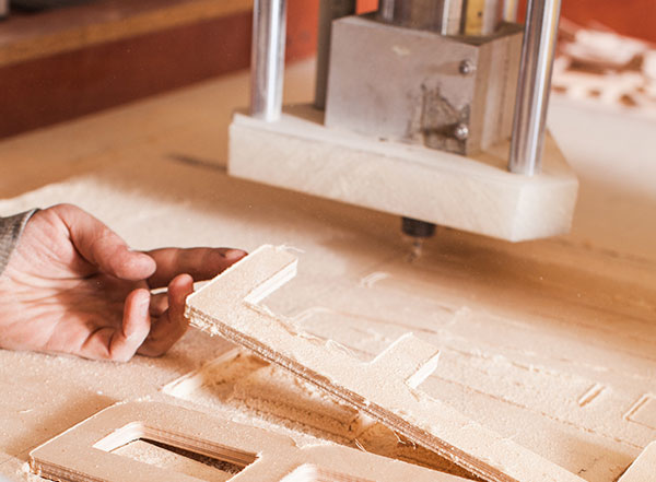 use router bits to mill an E