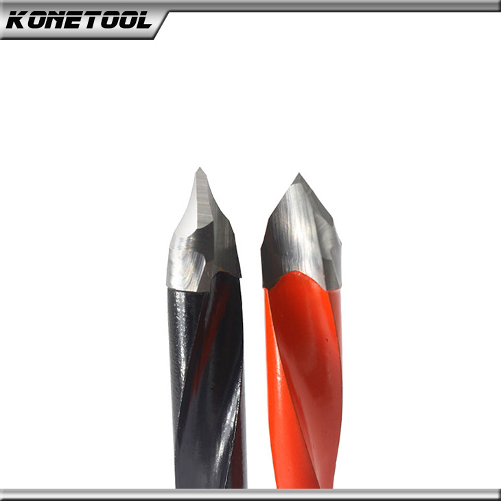Woodworking V-Point Through Hole Drill Bits